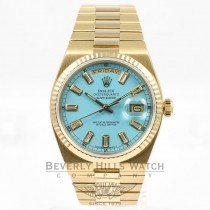 Rolex Yellow Gold 36MM Day DateOysterQuartz TurQuartz Diamond Dial Watch 19018N Beverly Hills Watch Company