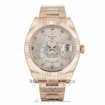 Rolex Sky Dweller Rose Sundust Dial Everose Gold 326935 8JETAF - Beverly Hills Watch Company