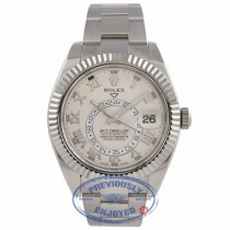 Rolex Sky-Dweller 18k White Gold  Dual Time Annual Calendar 326939 U5CVQ4 - Beverly Hills Watch Company Watch Store