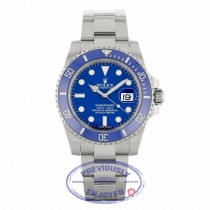 Rolex Submariner 18K White Gold Oyster Bracelet Blue Dial Blue Ceramic Bezel 40mm Dive 116619 LLZ1PE - Beverly Hills Watch