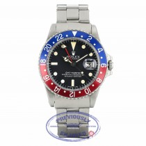 Rolex GMT Master Stainless Steel Blue and Red 'Pepsi' Bezel Vintage 1675 NENY4Z - Beverly Hills Watch Company