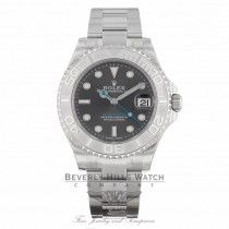 Rolex Yacht-Master Rhodium Dial Steel and Platinum Oyster Midsize 268622 - Beverly Hills Watch