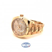 Rolex Sky Dweller Rose Champagne Dial Everose Gold 326935 Z9YJL0 - Beverly Hills Watch Company