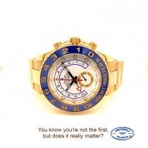 Rolex Yacht-Master II 44mm Yellow Gold Watch 116688 M5WURE - Beverly Hills Watch Company