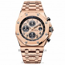Audemars Piguet Royal Oak Offshore 18k Rose Gold Chronograph Automatic on Bracelet 26470OR.OO.1000OR.01 X9TPAW - Beverly Hills Watch Company Watch Store