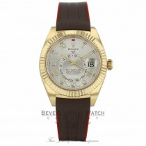 Rubber B Brown Red Rubber Strap for Rolex Sky-Dweller M110-BR/VCRD HK3PXP (Strap Only) - Beverly Hills Company