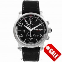 Montblanc Timewalker Chronograph UTC Black Dial Stainless Steel 107336 MVZ1T1 - Beverly Hills Watch Company Watch Store