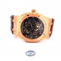 Audemars Piguet Royal Oak Openworked 39mm Rose Gold 15305OR.OO.D088CR.01 T1267R - Beverly Hills Watch Company