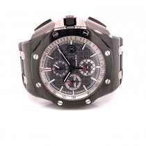 Audemars Piguet Royal Oak Offshore Chronograph 44mm Black Ceramic Grey Dial 26405CE.OO.A002CA.01 T6EUPE - Beverly Hills Watch Company