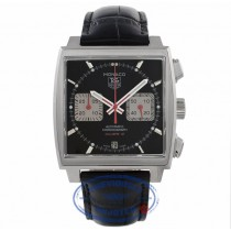 Tag Heuer Monaco Steve McQueen Edition Stainless Steel Automatic 39MM Chronograph Black Dial CAW2114.FC6177 K7DTHJ - Beverly Hills Watch Company Watch Store