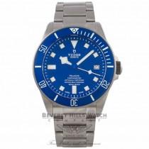 Tudor Pelagos 42MM Titanium Stainless Steel Matte Blue Bezel Blue Dial Bracelet 25600TB MEKFRP - Beverly Hills Watch Company Watch Store