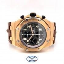 Audemars Piguet Royal Oak Offshore Rose Gold 42mm Grey Dial 25940K.OO.D002CA.01 TUMMJL - Beverly Hills Watch Company