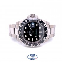 Rolex GMT Master II 40mm Stainless Steel Black Dial Black Ceramic Bezel 116710 U6C46F - Beverly Hills Watch