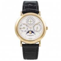 Vacheron Constantin Perpetual Calendar 18k Yellow Gold White Moon Phases Dial 43031 ULY25N - Beverly Hills Watch Store