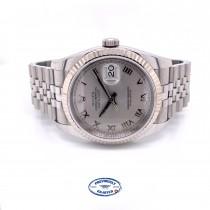 Rolex Datejust 36MM Silver Roman Dial Jubilee Bracelet 116234 WVD3XF - Beverly Hills Watch Company