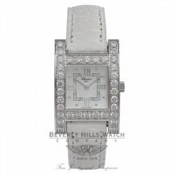 Chopard Lady H Watch White Gold Diamond Bezel Watch 13-6621