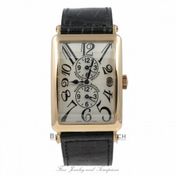 Franck Muller Long Island Master Banker Triple Time Zone Rose Gold Watch 1200MB