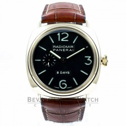 Panerai Radiomir 8 Day Power Reserve Rose Gold Watch PAM00197 Beverly Hills Watch Company