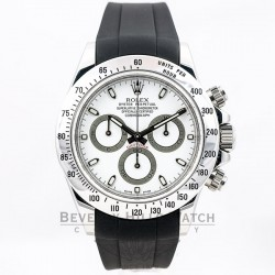 Rubber B Black Rubber Strap for Rolex Stainless Steel Daytona M103CD-BK Beverly Hills Watch Company