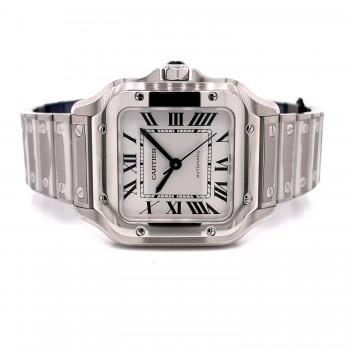 Cartier Santos Medium Stainless Steel Automatic WSSA0029 - Beverly Hills Watch Company