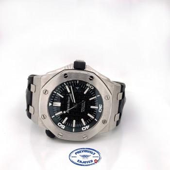 Audemars Piguet Royal Oak Offshore 42mm Diver Black Dial Stainless Steel 15703ST.OO.A002CA.01 A7JC6C - Beverly Hills Watch Company