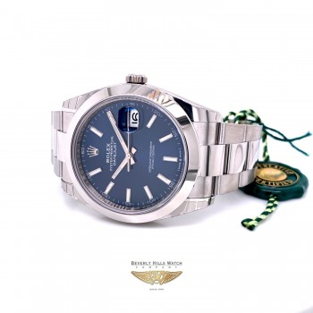 Rolex Datejust 41mm Smooth Bezel Blue Dial 126300 1N5U1V - Beverly Hills Watch Company