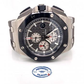Audemars Piguet Royal Oak Offshore 44mm Titanium and Ceramic Slate Grey Dial 26400IO.OO.A004CA.01 9D81WX