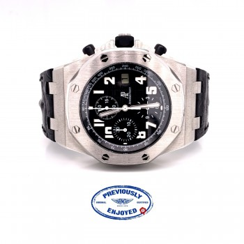 Audemars Piguet Royal Oak Offshore 42mm Stainless Steel Black Dial White Arabic numerals 26020ST.OO.D101CR.01 2MM5V8 - Beverly Hills Watch Company