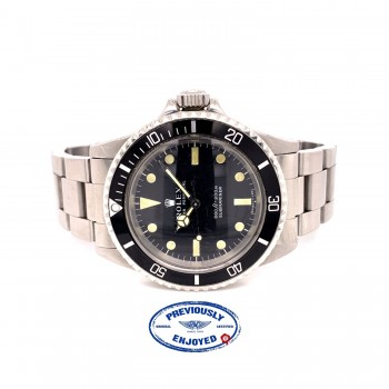 Rolex Submariner Vintage 40mm Stainless Steel Black Dial Bracelet 5513 2NXCCV - Beverly Hills Watch Company