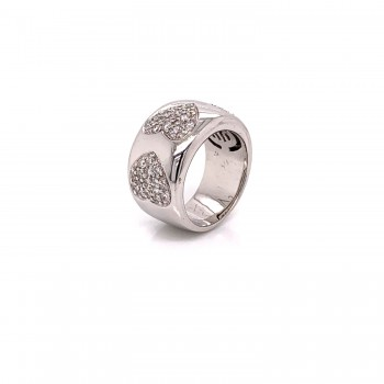 Naira & C Bamibina Diamond Heart White Gold Ring 3289