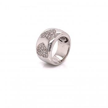 Naira & C Bamibina Diamond Heart White Gold Ring 3289