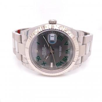 Rolex Datejust 41mm Wimbledon Oyster Bracelet 126334 41HDQU - Beverly Hills Watch Company