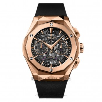 Hublot Classic Fusion Aerofusion Orlinski 45mm Chronograph Rose Gold  525.OX.0180.RX.ORL18 1957F2 - Beverly Hills Watch Company