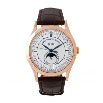 Patek Philippe Annual Calendar Moon Phases Rose Gold Sector Dial 5396r-001 LJ69NH - Beverly Hills Watch Company