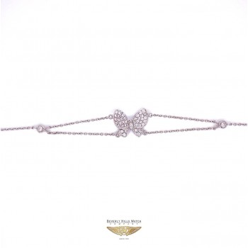 Naira & C Diamond Butterfly 18k White Gold Bracelet 56RT0C