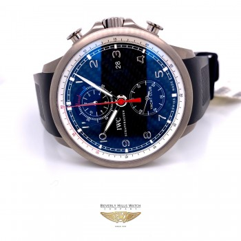 IWC Portuguese Yacht Club 45mm Titanium Case Carbon Fiber Dial IW390212 5llZMQ - Beverly Hills Watch Company