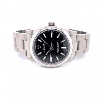 Rolex Oyster Perpetual 34mm Stainless Steel Black Dial 124200 8J8A51 - Beverly Hills Watch Company