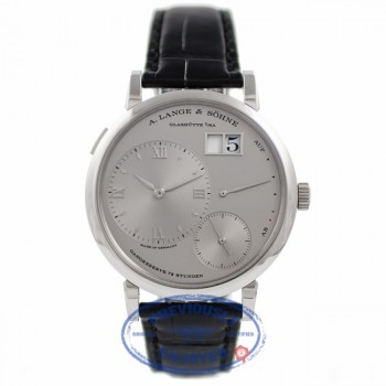 A. Lange & Sohne Grand Lange 1 Platinum 41MM Silver Dial 117.025 C4BAJJ - Beverly Hills Watch Company Watch Store