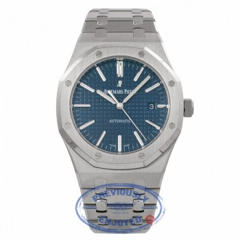 Audemars Piguet Royal Oak 41MM Stainless Steel Blue Dial on Bracelet 15400ST.OO.1220ST.03 4TCL1Z - Beverly Hills Watch Company Watch Store