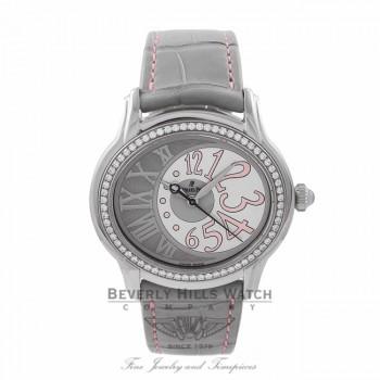 Audemars Piguet Millenary 39MM Ladies Stainless Steel Automatic Diamond Bezel Grey/Silver Dial 77301ST.ZZ.D009CR.01 LNZ669 - Beverly Hills Watch Company