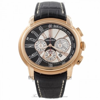Audemars Piguet Millenary 47MM Chronograph Gents 18k Rose Gold Silver Dial 26145OR.OO.D093CR.01 SBI5DJ - Beverly Hills Watch Company Watch Store