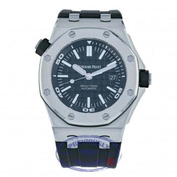 Audemars Piguet 42mm Royal Oak Offshore Diver Black Dial 15710ST.OO.A002CA.01 5P8Z8C - Beverly Hills Watch Company