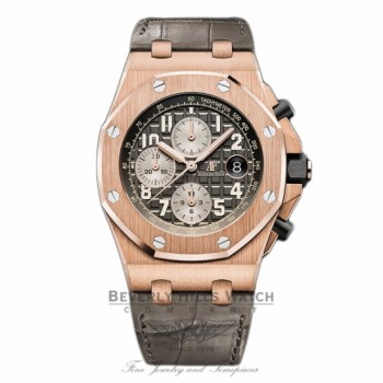 Audemars Piguet Royal Oak Offshore 42mm Chronograph Automatic Grey Dial 26470OR.00.A125CR.01 L492XX - Beverly Hills Watch
