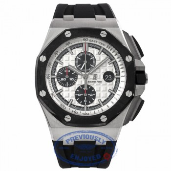 Audemars Piguet Royal Oak Offshore Stainless Steel Black Chronograph Ceramic Bezel White Dial 26400SO.A002CA.01 XCWMVV - Beverly Hills Watch Company Watch Store
