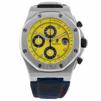 Audemars Piguet Royal Oak Offshore Yellow Dial 25770ST.0.0009.02 E9FWWT - Beverly Hills Watch Company