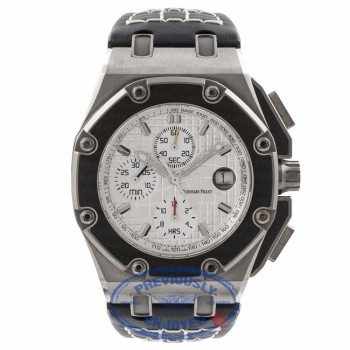 Audemars Piguet Pablo Montoya Royal Oak Offshore 44 MM Titanium Chronograph 26030IO.OO.D001IN.01 UHQRUL - Beverly Hills Watch Store