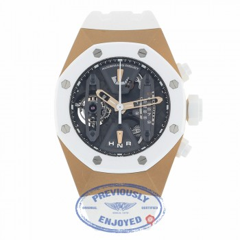 Audemars Piguet Royal Oak Concept Tourbillon Rose Gold and Ceramic Chronograph 26223RO.OO.D010CA.01 PKKEZM - Beverly Hills Watch