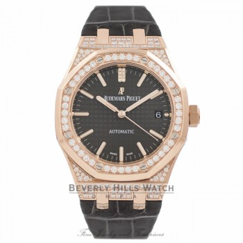 Audemars Piguet Royal Oak 37MM 18k Rose Gold Ladies 15452OR.ZZ.D003CR.01 V3V0TT - Beverly Hills Watch Company