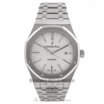 Audemars Piguet Royal Oak 41MM Stainless Steel Silver Dial 15400ST.OO.1220ST.02 PCTWU1 - Beverly Hills Watch Company Watch Store