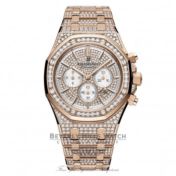 Audemars Piguet 41mm Royal Oak Rose Gold Diamonds 26322OR.ZZ.1222OR.01 L4805F - Beverly Hills Watch